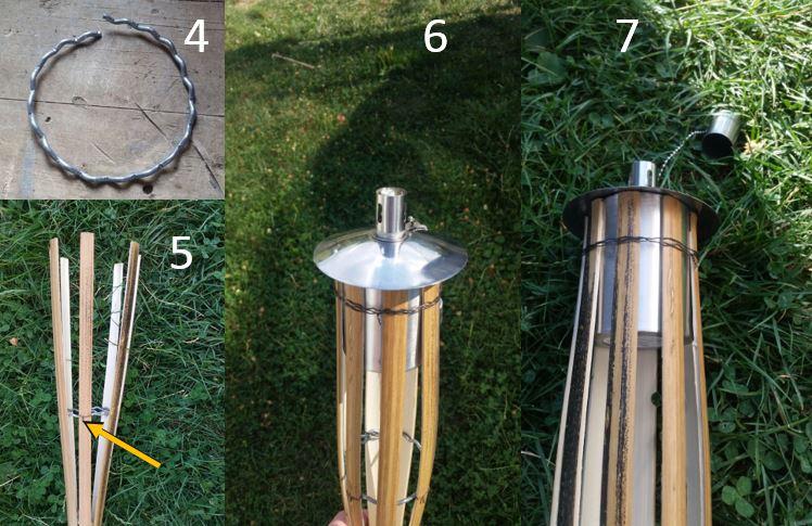 Schritt 5, Fackel selber bauen, Gartenfackel, Bambusfackel