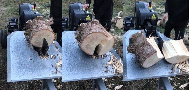 Jansen FS-35speed Holzspalter Spalttest