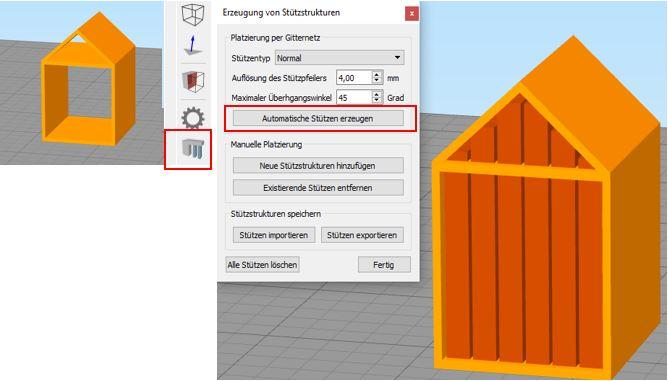 Simplify 3D Stützmaterial