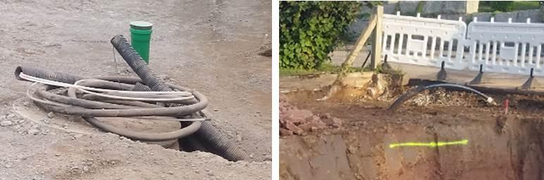 Hausbau Wasser- und Stromanschluss