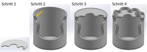 3D Modell ohne Stützmaterial
