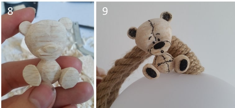Teddy selber schnitzen aus Holz
