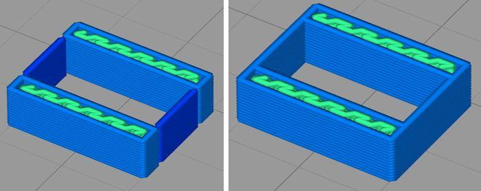 Simplify 3D, Einzeln extrudierte Wände erlauben Nachteil
