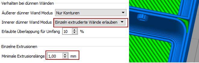 Simplify 3D Maximale Extrusionslänge